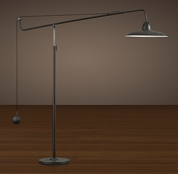 1940s architect 39 s boom floor lamp