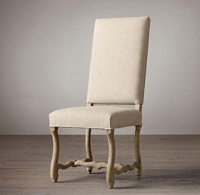 os de mouton fabric side chair. Black Bedroom Furniture Sets. Home Design Ideas