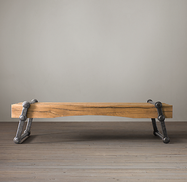 Restoration Hardware French Coffee Table: Kinetic Coffee Table