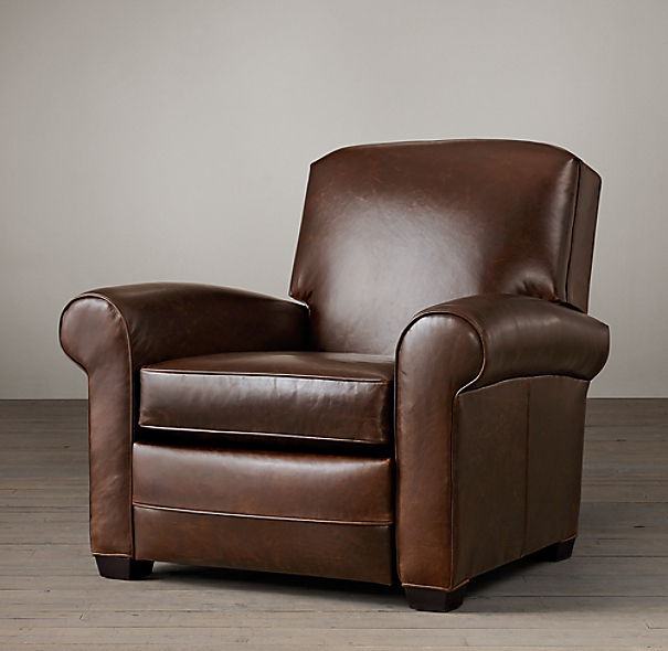 Lowell Leather Club Recliner