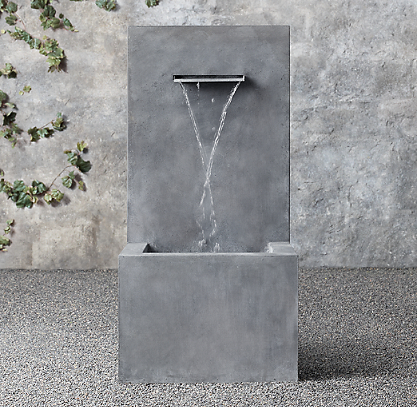 Weathered Zinc Wall Fountain 1 Spout