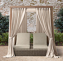 Provence Luxe Double Chaise Canopy Cushions