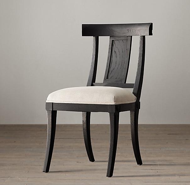 Modern Klismos Chair: Klismos Fabric Side Chair