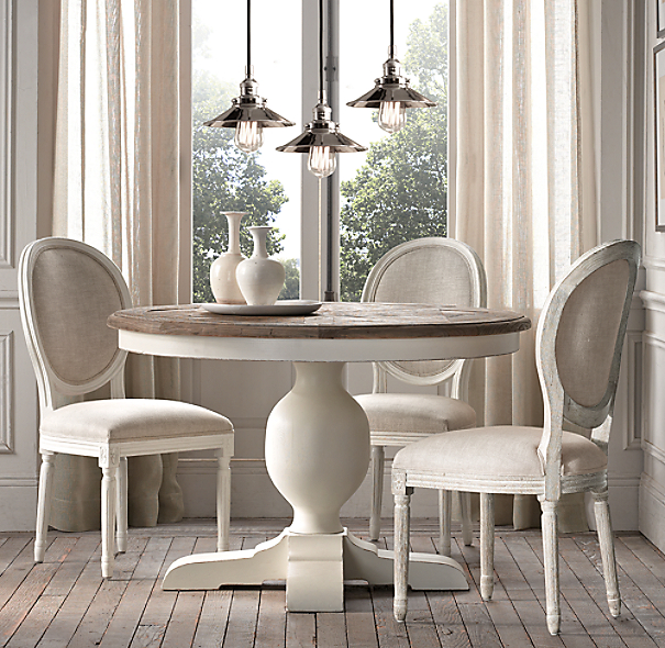 Baroque Parquet Round Dining TableBaroque Round Table