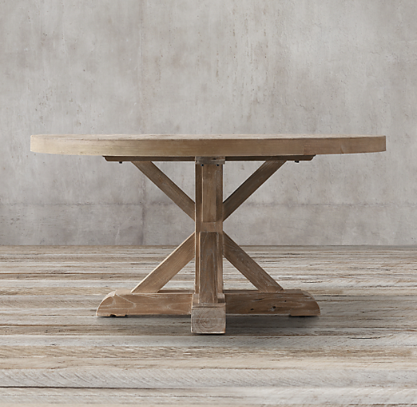 Dining Table: Round Dining Table Distressed Wood