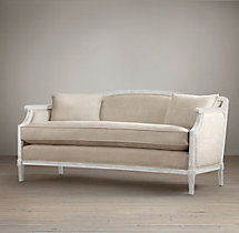 Laurent Salon Bench White