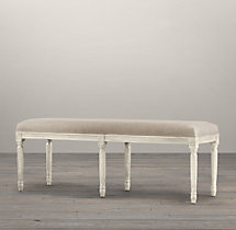 Louis Bench White