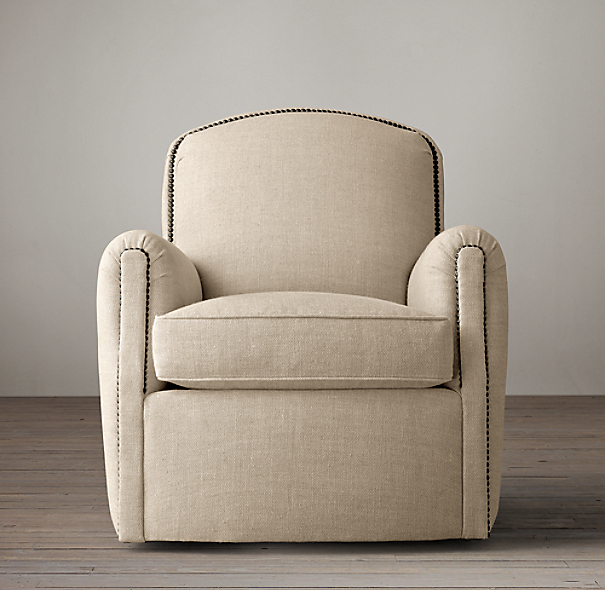 Keaton upholstered club swivel chair