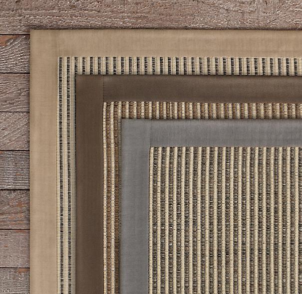 Sunbrella stripe outdoor rug for Restoration hardware rugs on sale