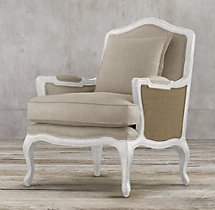 Marseilles Chair White with Burlap