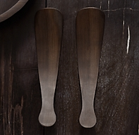 Reclaimed Ebonized Cherry Wood 2-Piece Salad Serving Set