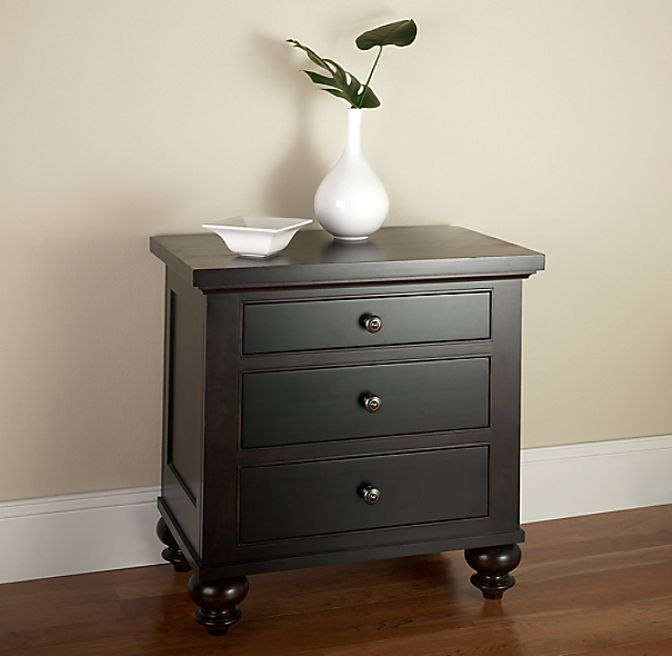 Camden 3-Drawer Nightstand (Set of 2 Closed)