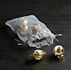 Mini Vintage Hand-Blown Glass Ornament (Set of 6) - Gold