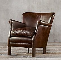 Professor's Leather Chair Without Nailheads