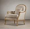 Lyon Chair With Burlap Back