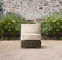 Provence Classic Armless Chair Cushion