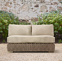 "44"" Provence Classic Two-Seat Armless Sofa Cushions"