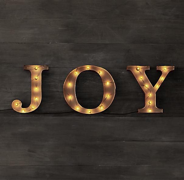 Restoration Hardware Marquee Word - Joy