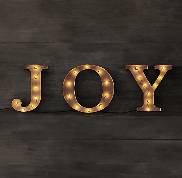 Restoration Hardware Marquee Word - Joy