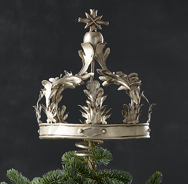 Crown Tree Topper Silver