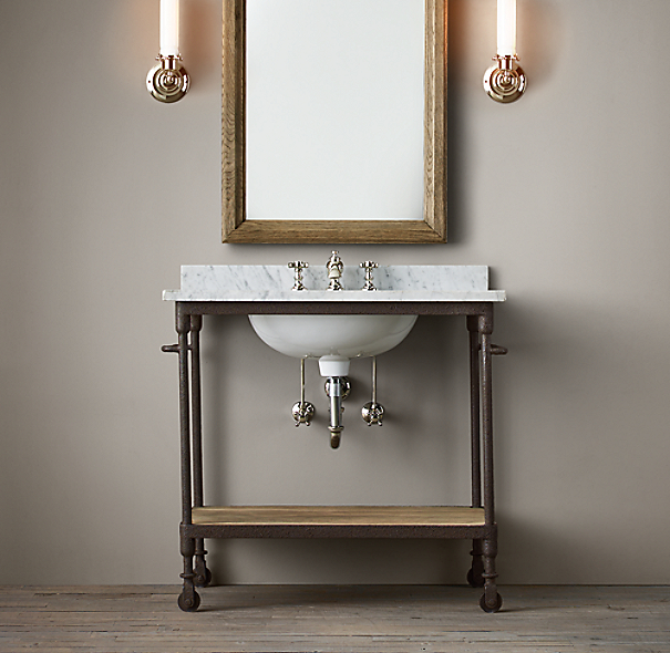 Restoration Hardware Bathroom Vanity Knockoff: Dutch Industrial Single Washstand