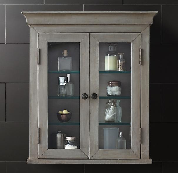 restoration hardware lighted medicine cabinets