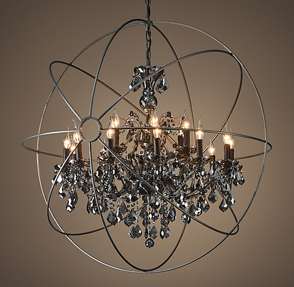 Foucault S Orb Smoke Crystal Chandelier 44 Quot