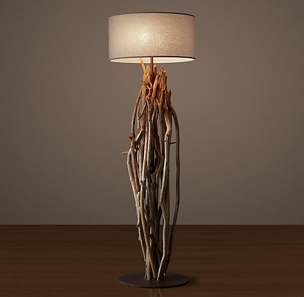 Restoration Hardware Usa: Salvaged Driftwood Floor Lamp