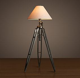 Floor restoration hardware for Royal marine tripod floor lamp antique brass