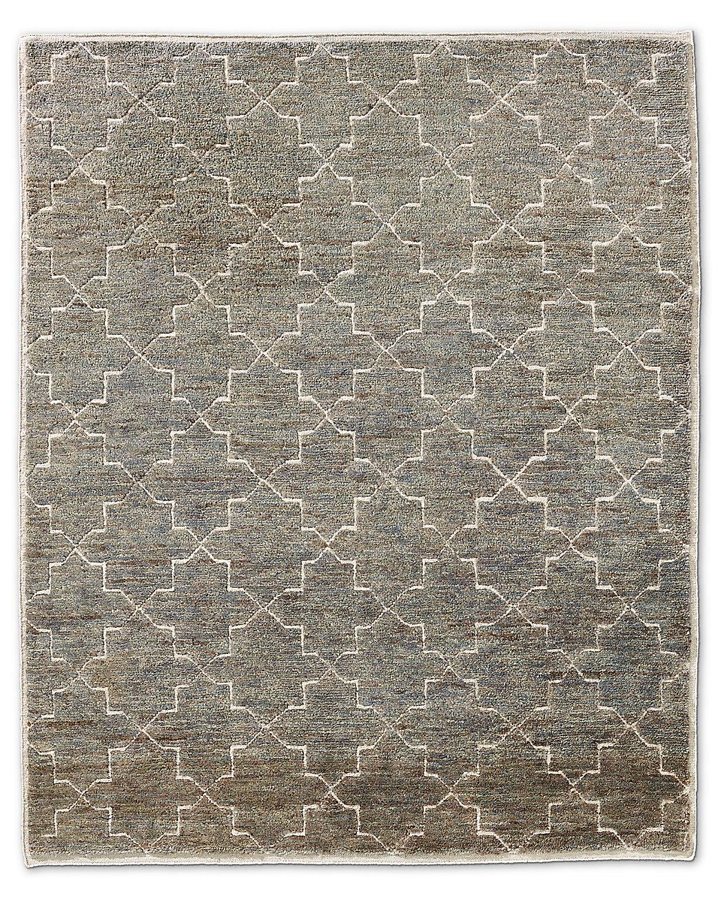 Moroccan Star Rug Charcoal