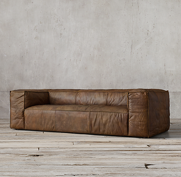 "120"" Fulham Leather Sofa"