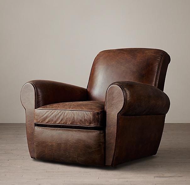 Parisian Leather Swivel Chair