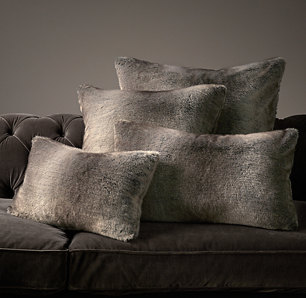 how to clean faux fur pillow