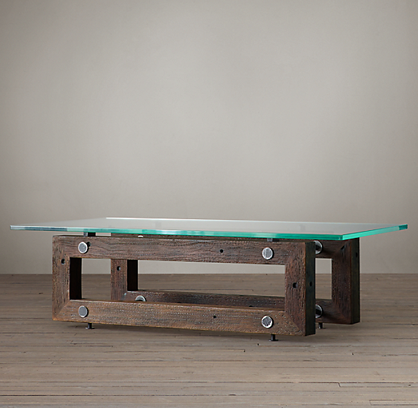 Restoration Hardware Reclaimed Teak Coffee Table: Reclaimed Brazilian Wood Coffee Table