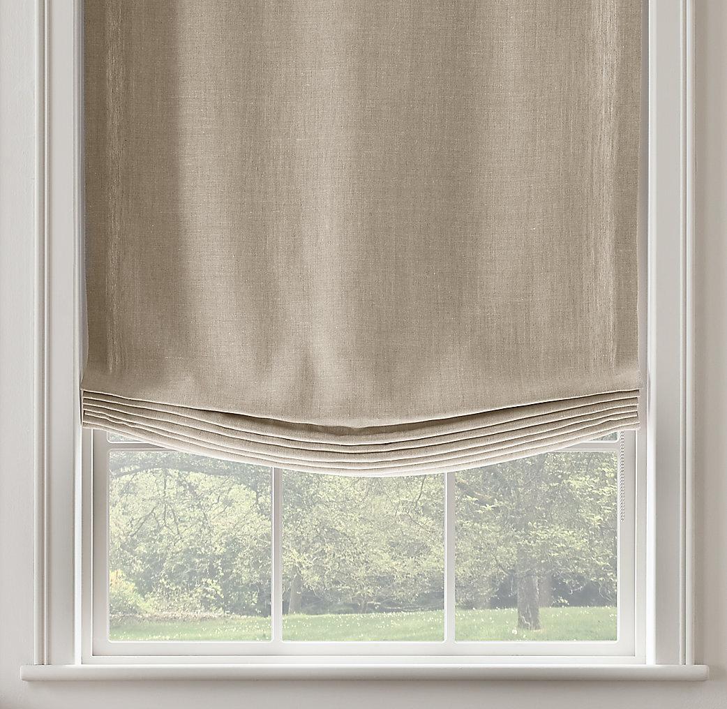 Belgian Textured Linen Relaxed Roman Shade