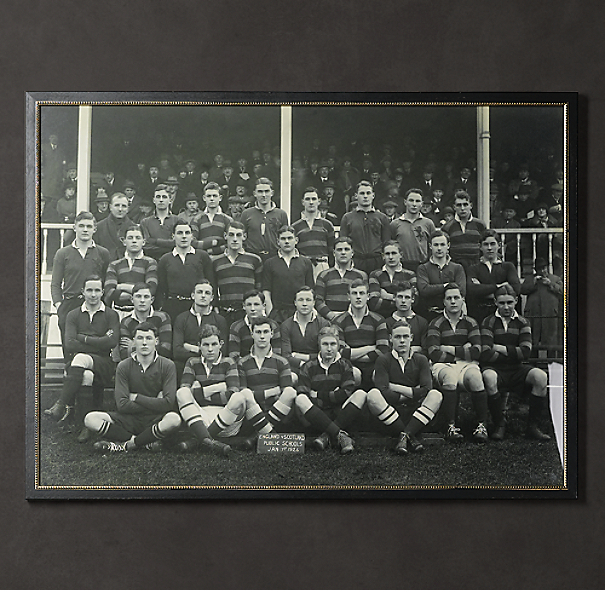 Vintage Sports Team Portrait, England v. Scotland Rugby, 1926
