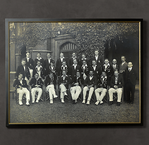 Vintage Sports Team Portrait, New Zealanders Cricket Team