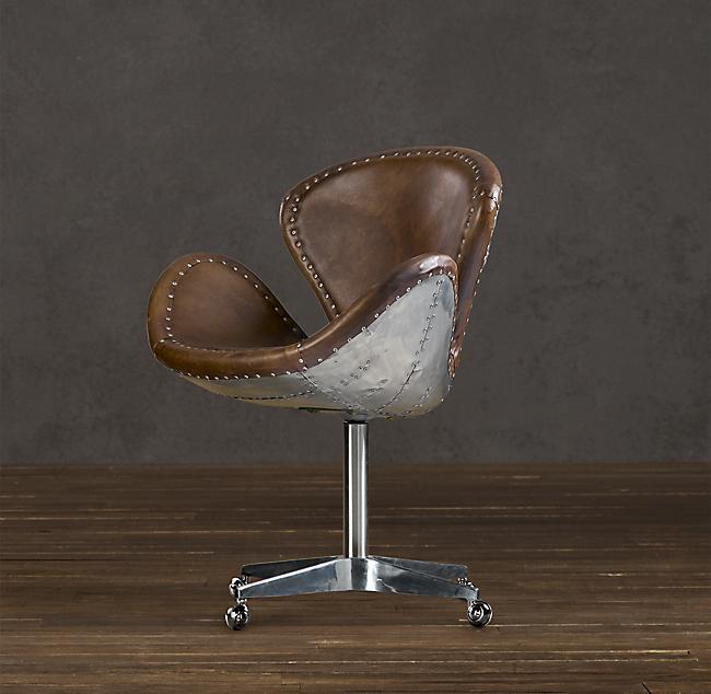 Restoration Hardware Leather Chair: Restoration Hardware Devon Spitfire Leather Chair (2