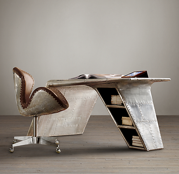 Recycled Aviator Wing Desk Amp Chair Bookmarc