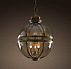 Victorian Hotel Pendant Antique Brass