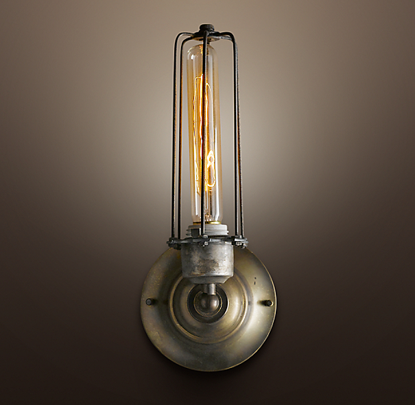 Edison Caged Sconce Gunmetal