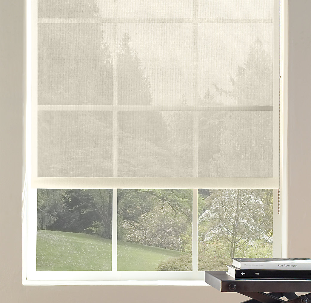 3 solar roller shade for Restoration hardware window shades