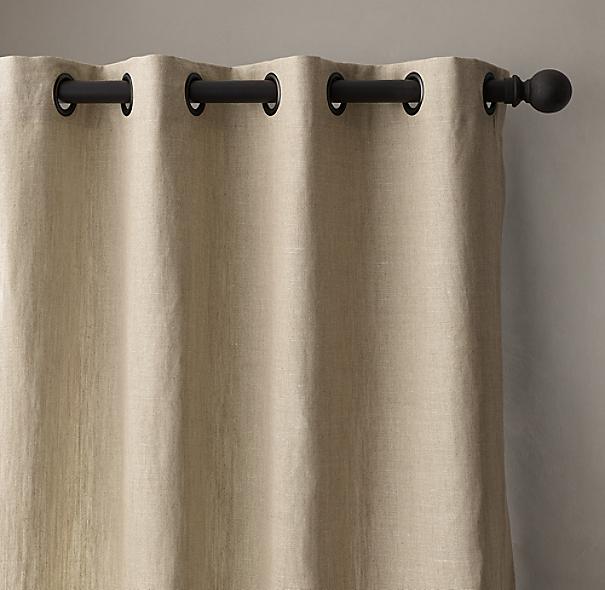 Belgian Textured Linen Drapery Grommet
