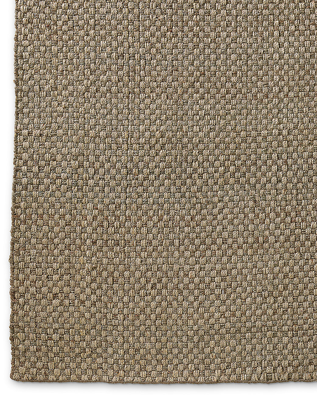 Two Tone Basket Weave Jute Rug Silver Platinum