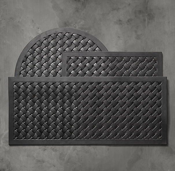 Lattice Rubber Half Round Doormat
