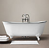 Piedmont Pedestal Soaking Tub and Tub Fill with Handheld Shower