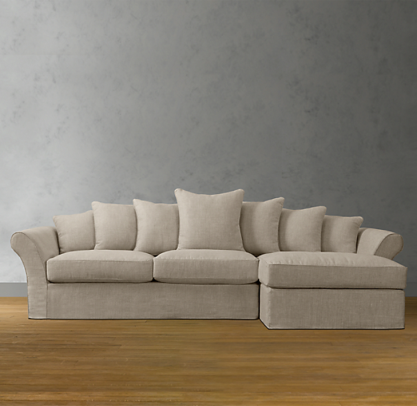 Camelback Slipcovered Sofa Chaise Sectionals