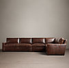 Petite Maxwell Leather L Sectional