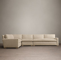 The Petite Maxwell Upholstered L-Sectional