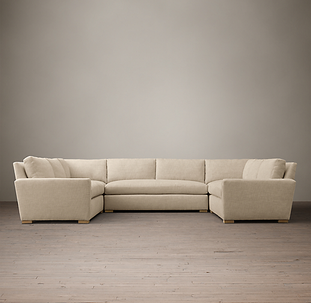 The Petite Maxwell Upholstered U-Sofa Sectional